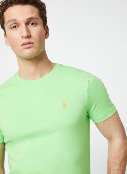 Vêtements Polo Ralph Lauren T-Shirt MC Jersey Custom Slim Vert vue face