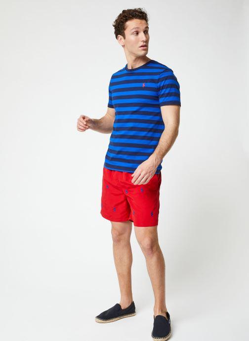 Vêtements Polo Ralph Lauren T-Shirt MC Marinière Pony Bleu vue bas / vue portée sac