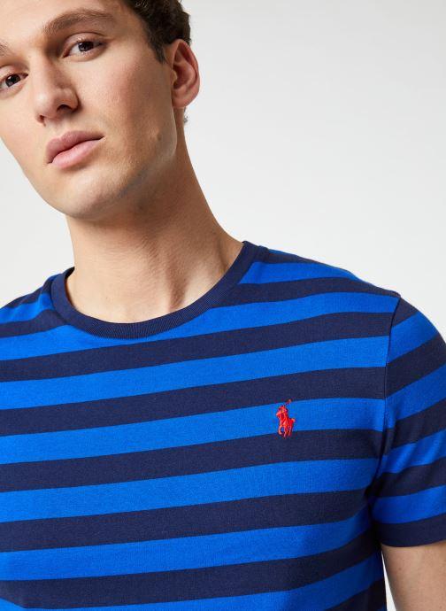 Vêtements Polo Ralph Lauren T-Shirt MC Marinière Pony Bleu vue face