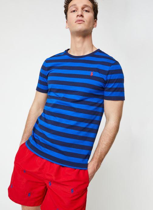 Vêtements Polo Ralph Lauren T-Shirt MC Marinière Pony Bleu vue détail/paire
