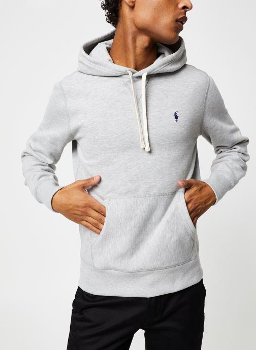 Vêtements Polo Ralph Lauren Sweatshirt Hoodie ML Classique Pony Gris vue détail/paire