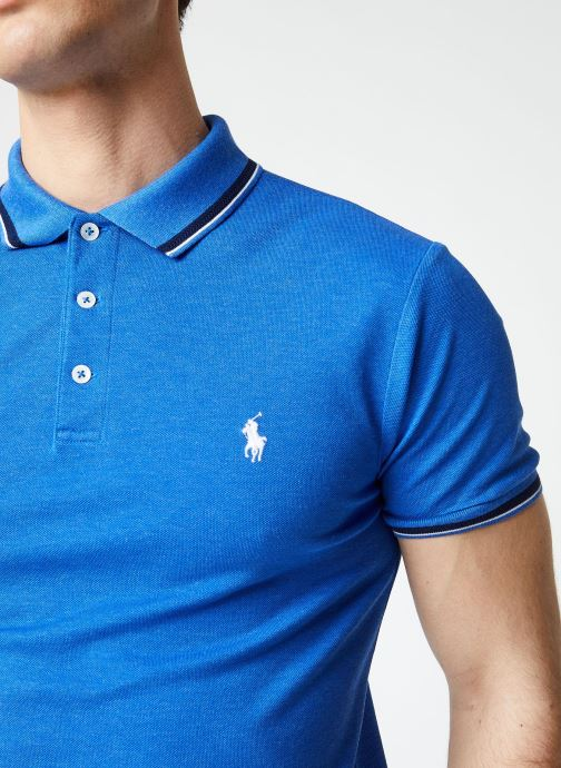 Vêtements Polo Ralph Lauren Polo MC Col Pony Bleu vue face