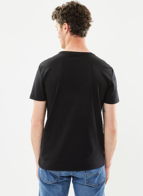 Vêtements Polo Ralph Lauren T-Shirt Pima Polo Custom Slim Pony Noir vue portées chaussures