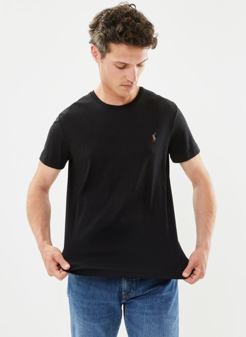 Vêtements Polo Ralph Lauren T-Shirt Pima Polo Custom Slim Pony Noir vue détail/paire