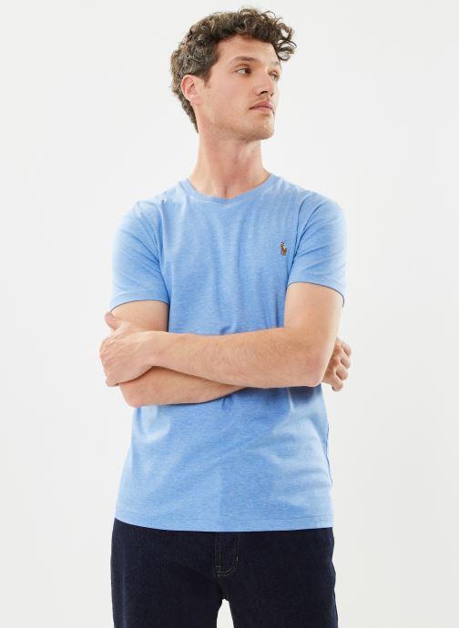 Kleding Polo Ralph Lauren T-Shirt Pima Polo Custom Slim Pony Blauw detail