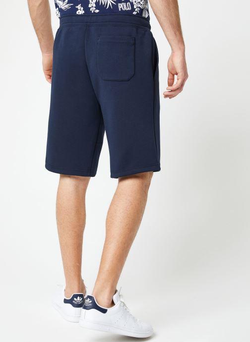 Vêtements Polo Ralph Lauren Short Confort Pony Bleu vue portées chaussures