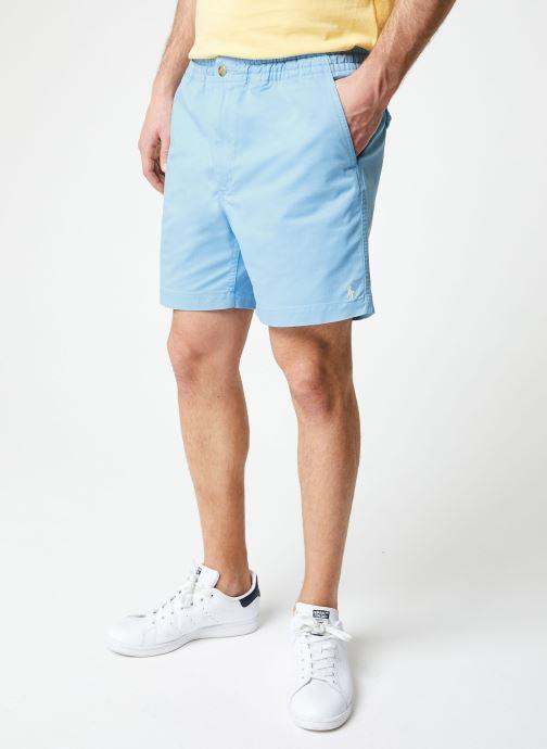 Vêtements Polo Ralph Lauren Short Cotton Stretch Classic Pony Bleu vue détail/paire
