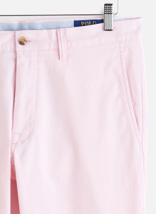Vêtements Polo Ralph Lauren Chino Cotton Stretch Slim Pony Rose vue portées chaussures