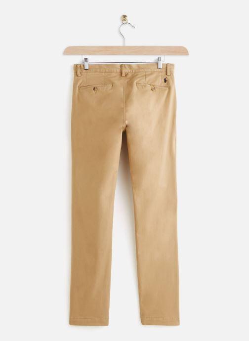 Vêtements Polo Ralph Lauren Chino Cotton Stretch Slim Pony Beige vue bas / vue portée sac