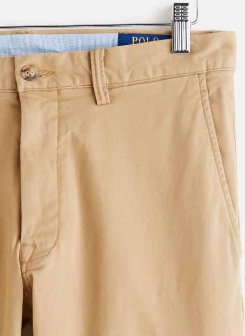 Vêtements Polo Ralph Lauren Chino Cotton Stretch Slim Pony Beige vue portées chaussures
