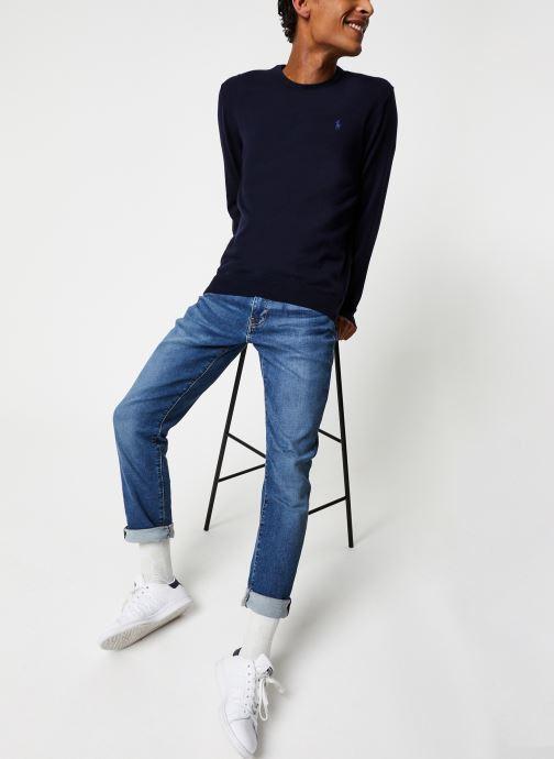 Vêtements Polo Ralph Lauren Pull ML Pima Cotton Pony Bleu vue bas / vue portée sac