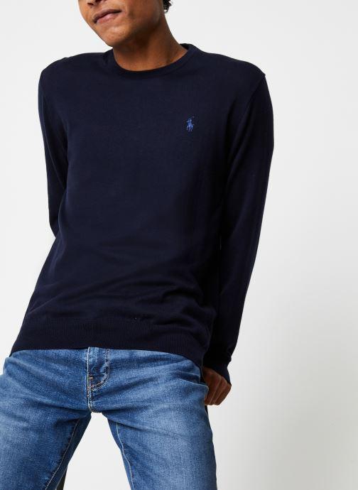 Vêtements Polo Ralph Lauren Pull ML Pima Cotton Pony Bleu vue détail/paire
