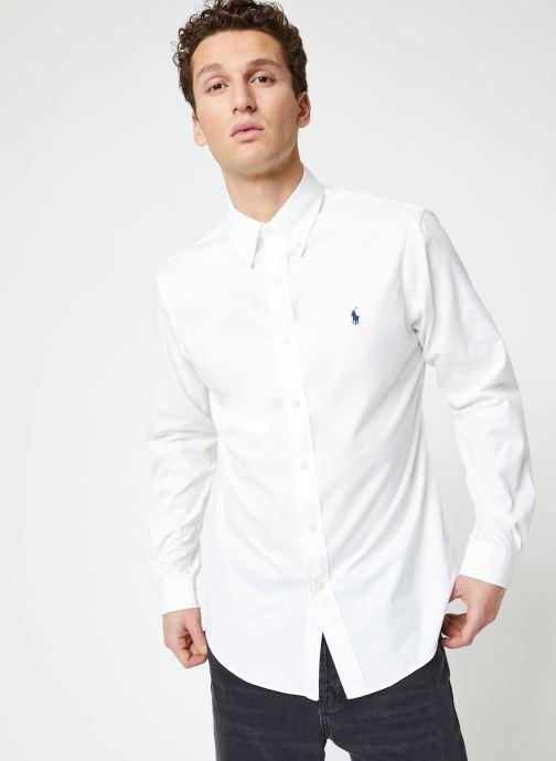 Vêtements Polo Ralph Lauren Chemise ML Chino Custom Pony Blanc vue droite