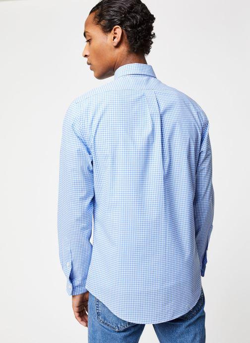 Polo Ralph Lauren Chemise ML Poplin Slim Pony (Bleu) - Vêtements chez Sarenza (430421) Y9IuV