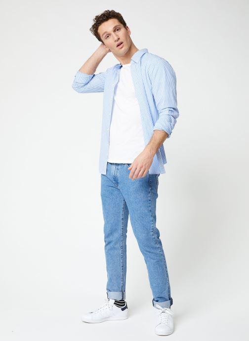 Vêtements Polo Ralph Lauren Chemise ML Poplin Slim Pony Blanc vue bas / vue portée sac