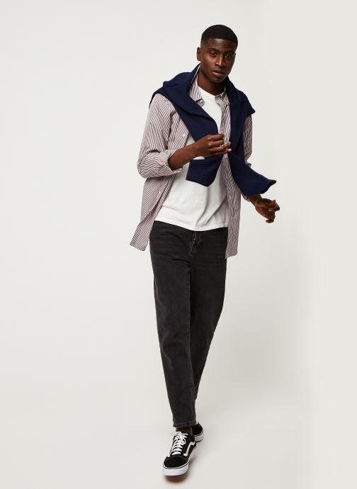 Vêtements Polo Ralph Lauren Chemise ML Poplin Slim Pony Rouge vue bas / vue portée sac