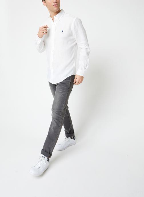Vêtements Polo Ralph Lauren Chemise ML Lin Custom Pony Blanc vue bas / vue portée sac