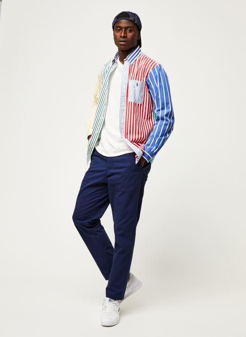 Vêtements Polo Ralph Lauren Chemise ML Fun Shirt Slim Pony Blanc vue bas / vue portée sac