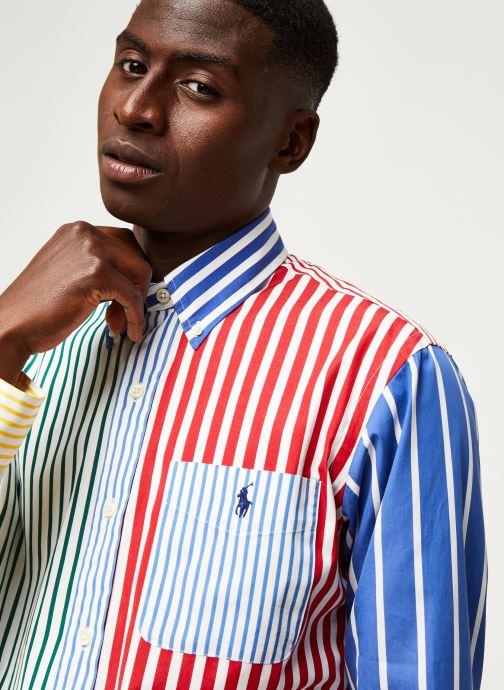Vêtements Polo Ralph Lauren Chemise ML Fun Shirt Slim Pony Blanc vue face