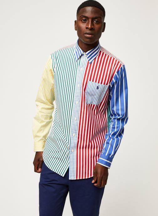 Vêtements Polo Ralph Lauren Chemise ML Fun Shirt Slim Pony Blanc vue droite