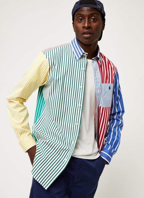 Vêtements Polo Ralph Lauren Chemise ML Fun Shirt Slim Pony Blanc vue détail/paire