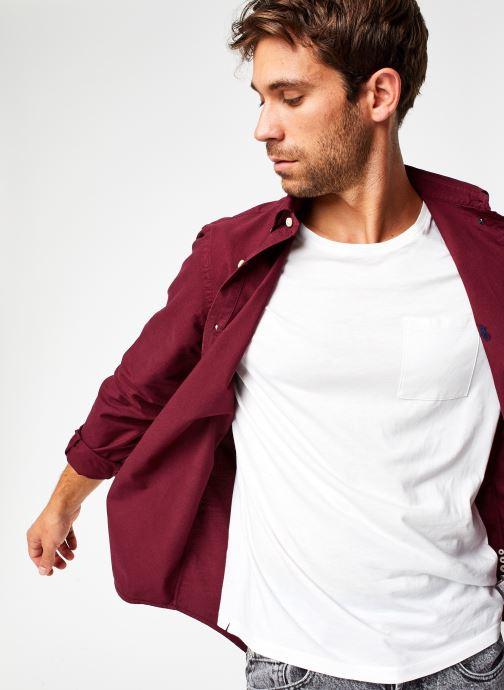 Vêtements Polo Ralph Lauren Chemise ML Oxford Custom Pony Bordeaux vue détail/paire
