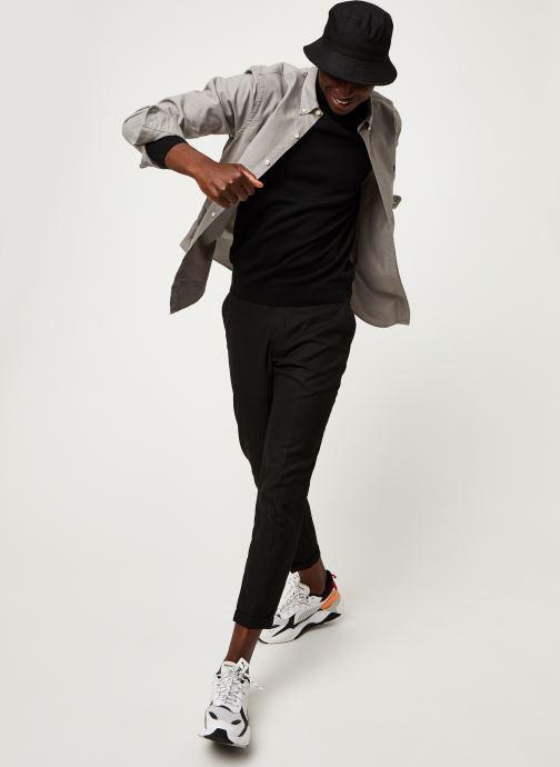 Vêtements Polo Ralph Lauren Chemise ML Oxford Custom Pony Gris vue bas / vue portée sac