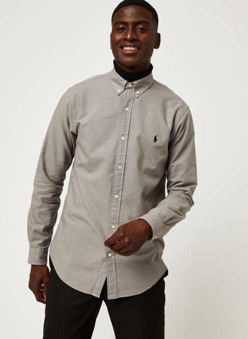 Vêtements Polo Ralph Lauren Chemise ML Oxford Custom Pony Gris vue droite