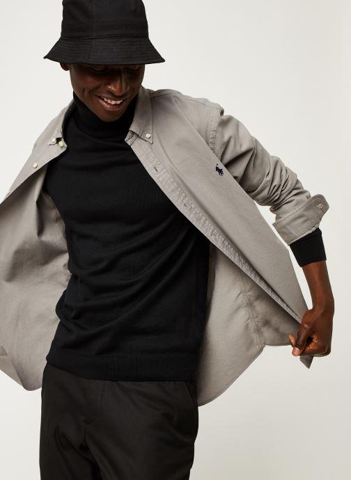 Vêtements Polo Ralph Lauren Chemise ML Oxford Custom Pony Gris vue détail/paire