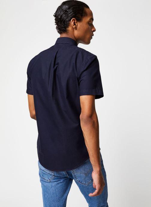 Polo Ralph Lauren Chemise MC Oxford Slim Pony (Bleu) - Vêtements chez Sarenza (430442) 1qbh3