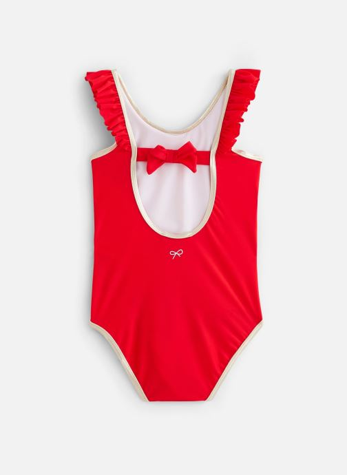 Vêtements Lili Gaufrette Maillot de bain une pièce dos échancré en V Granada Rouge vue bas / vue portée sac