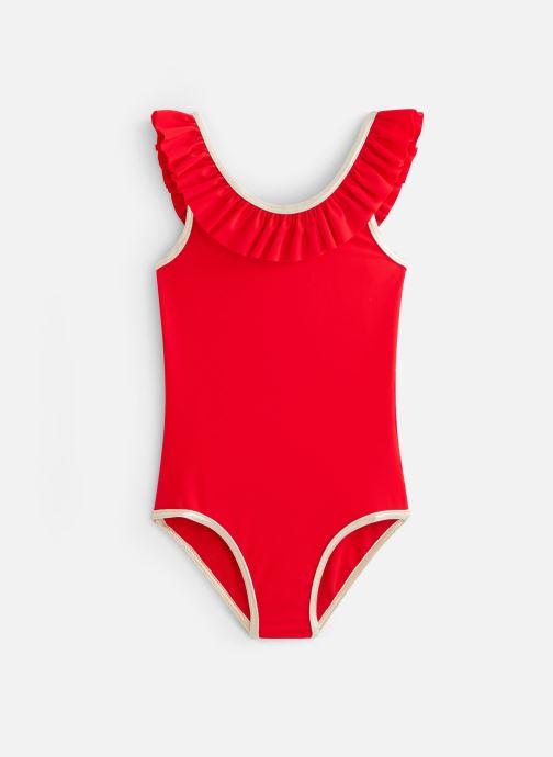 Vêtements Lili Gaufrette Maillot de bain une pièce dos échancré en V Granada Rouge vue détail/paire