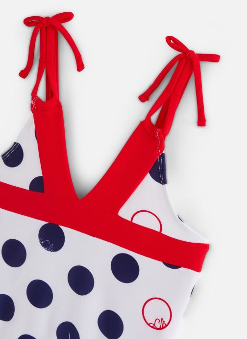 Vêtements Lili Gaufrette Maillot de bain une pièce à imprimés Bleu vue portées chaussures
