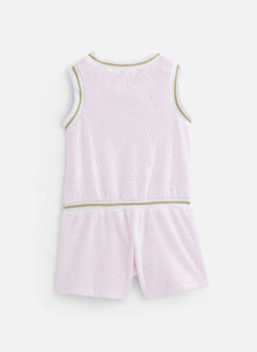 Vêtements Lili Gaufrette Combinaison courte en velours éponge Rose vue bas / vue portée sac