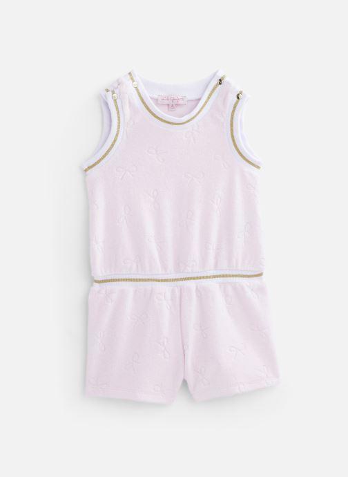 Vêtements Lili Gaufrette Combinaison courte en velours éponge Rose vue détail/paire