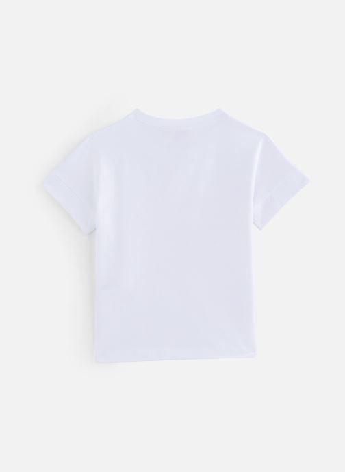 Vêtements Lili Gaufrette Tee-shirt coupe droite Blanc vue bas / vue portée sac