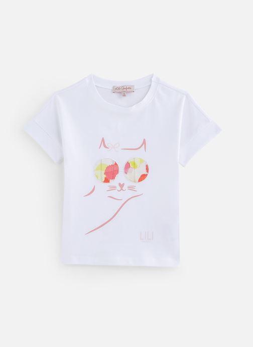 Vêtements Lili Gaufrette Tee-shirt coupe droite Blanc vue détail/paire