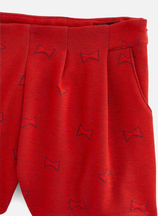 Vêtements Lili Gaufrette Short coquelicot en molleton Rouge vue portées chaussures