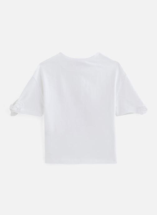 Vêtements Lili Gaufrette Tee-shirt coupe large à manches courtes Blanc vue bas / vue portée sac