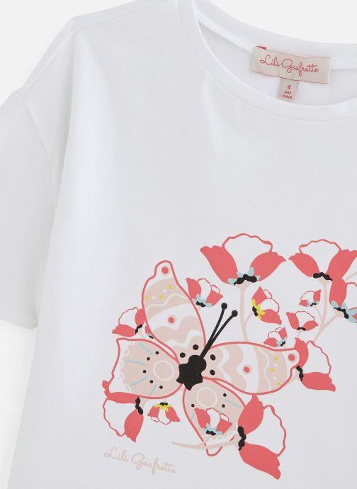 Vêtements Lili Gaufrette Tee-shirt coupe large à manches courtes Blanc vue portées chaussures