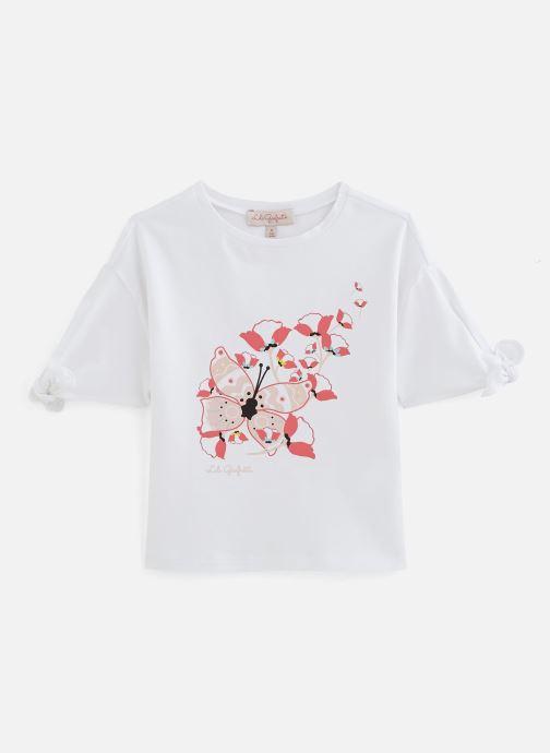 Vêtements Lili Gaufrette Tee-shirt coupe large à manches courtes Blanc vue détail/paire