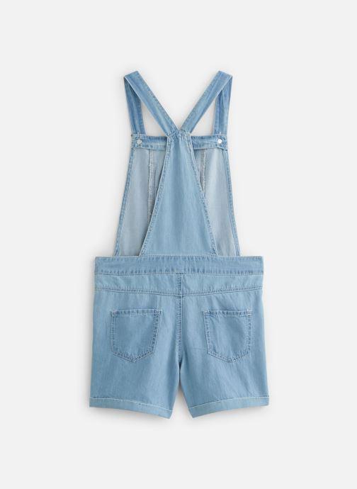 Vêtements Lili Gaufrette Salopette denim courte Bleu vue bas / vue portée sac