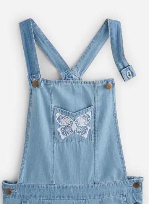Vêtements Lili Gaufrette Salopette denim courte Bleu vue portées chaussures