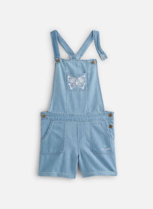 Vêtements Lili Gaufrette Salopette denim courte Bleu vue détail/paire