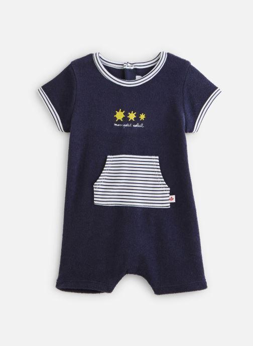 Vêtements Absorba Combicourt maille éponge Bleu vue détail/paire