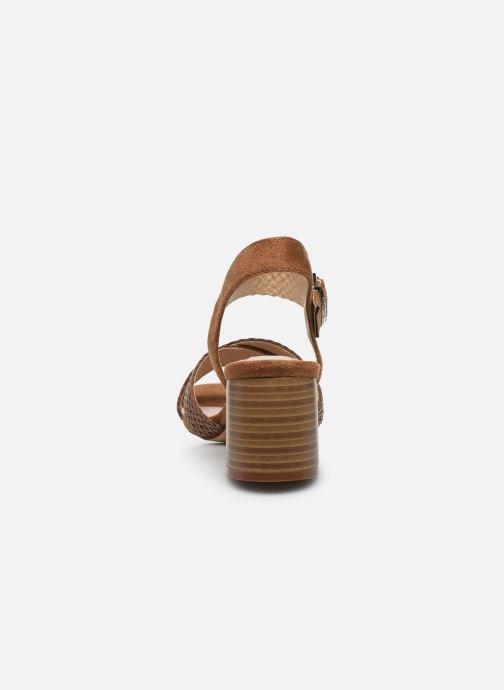 Sandali e scarpe aperte MTNG 58826 Marrone immagine destra