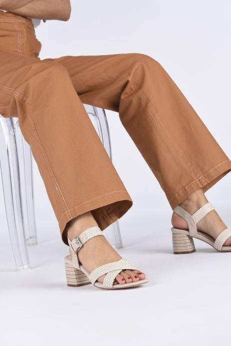 Sandales et nu-pieds MTNG 58826 Beige vue bas / vue portée sac