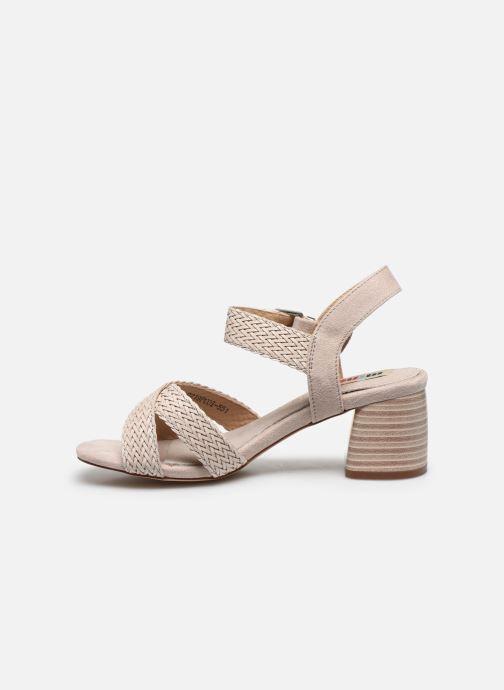 Sandales et nu-pieds MTNG 58826 Beige vue face