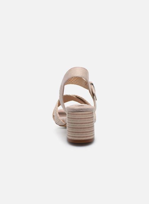 Sandales et nu-pieds MTNG 58826 Beige vue droite