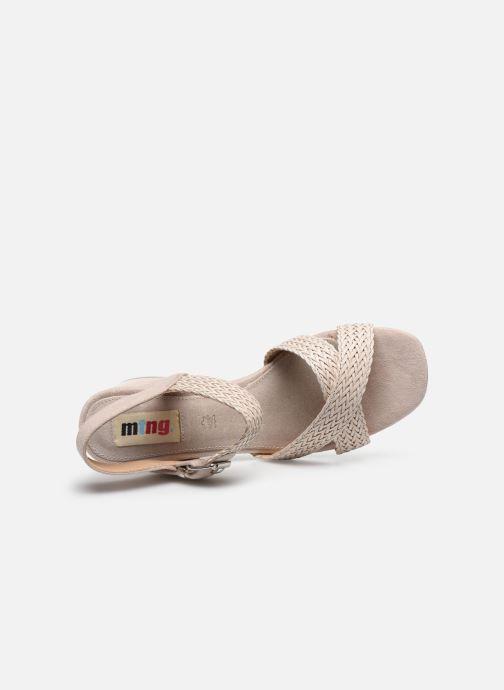 Sandales et nu-pieds MTNG 58826 Beige vue gauche